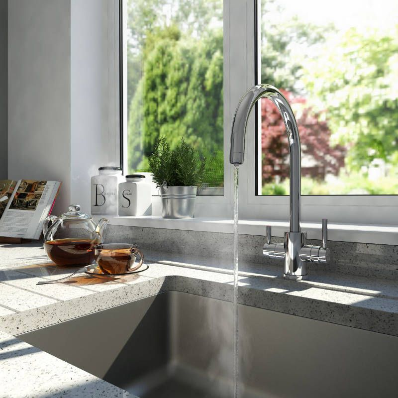 Country Kitchen Taps: 1912 Perrin & Rowe Phoenix 3-in-1 Instant Hot Water